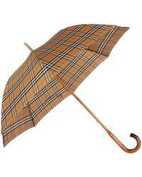 Burberry - Heritage Check Walking Umbrella - Lyst
