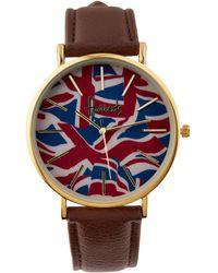 Harrods - Vintage Flag Watch, Brown - Lyst