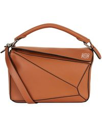 Loewe - Small Leather Puzzle Bag - Lyst