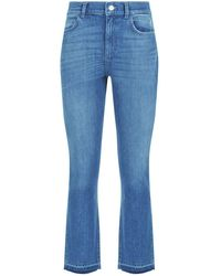 Claudie Pierlot - Cropped Slim-fit Jeans - Lyst