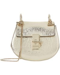 Chloé - Mini Metallic Drew Shoulder Bag - Lyst