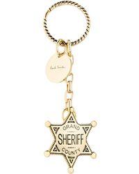 Paul Smith - Sheriff Badge Keyring - Lyst