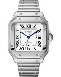 Cartier - Stainless Steel Santos De Watch 35mm - Lyst