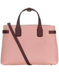 b9f2111daedf Lyst - Burberry Remington Large Leather Tote in Pink