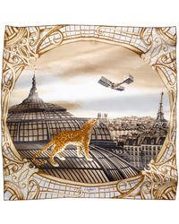Cartier - Odyssey Panther Motif Silk Scarf - Lyst