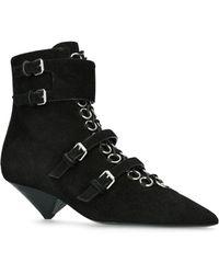 Saint Laurent - Suede Blaze Boots 45 - Lyst