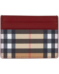 Burberry - House Check Card Holder - Lyst