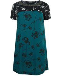 Elena Miro - Embellished Floral Mini Dress - Lyst