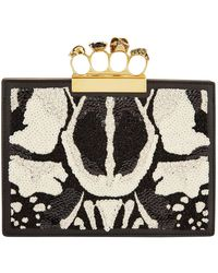 Alexander McQueen - Butterfly Embellished Four-ring Clutch - Lyst