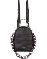 Moschino - Leather Chain Handle Backpack - Lyst