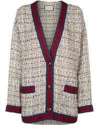 Gucci - Embellished Tweed Cardigan - Lyst