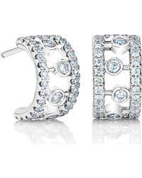 De Beers - White Gold And Diamond Dewdrop Hoop Earrings - Lyst