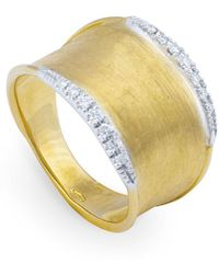 Marco Bicego - Yellow Gold Lunaria Wave Ring - Lyst