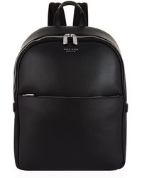 BOSS - Saffiano Leather Backpack - Lyst