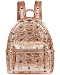 MCM - Metallic Mini Stark Stud Backpack - Lyst