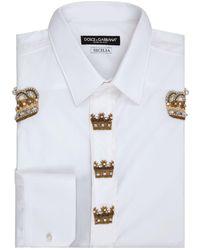 Dolce & Gabbana - Crown Embellished Shirt - Lyst