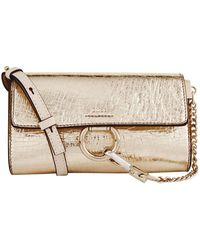 Chloé - Chlo Mini Metallic Faye Shoulder Bag, Gold, One Size - Lyst