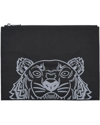 KENZO - Canvas Tiger Pouch - Lyst