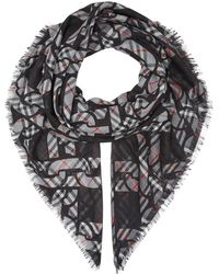 Burberry - Vintage Check Link Print Scarf - Lyst