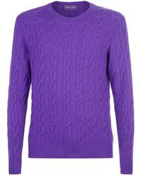 Ralph Lauren Purple Label - Cable Knit Jumper - Lyst