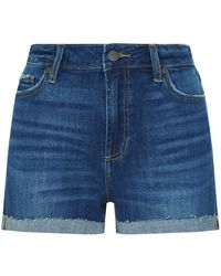 PAIGE - Jimmy Jimmy Turned Up Boyfriend Shorts - Lyst