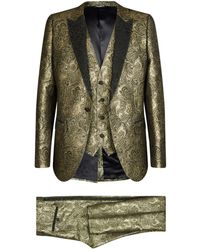 Dolce & Gabbana - Metallic Jacquard Three-piece Suit - Lyst