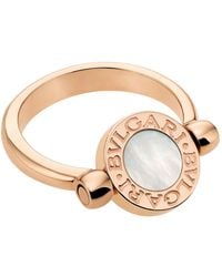 BVLGARI - Bulgari Bulgari Rose Gold Flip Ring - Lyst