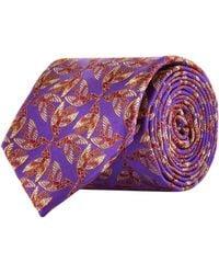 Harrods - Jacquard Feather Tie - Lyst