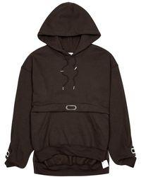 Collina Strada - Earring Hooded Cotton-blend Sweatshirt - Lyst