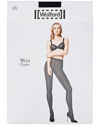 Wolford - Mira Black Polka-dot Tights - Lyst