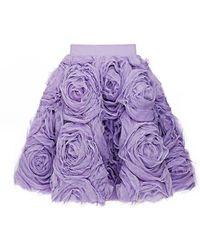 Mihano Momosa   Lilac Roses Skirt   Lyst