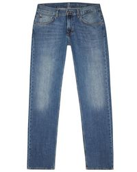 7 For All Mankind - The Straight Blue Jeans - Size W30 - Lyst