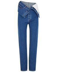 Y. Project - Blue Stone-washed Staight-leg Jeans - Lyst