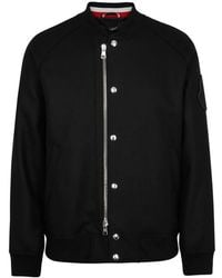 Moncler - Ica Black Wool Jacket - Lyst