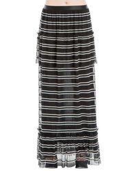 Leon Max - Striped Long Skirt - Lyst