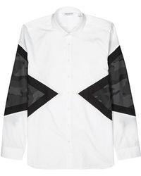 Neil Barrett - Modernist Panelled Cotton Shirt - Lyst