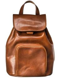 Maxwell Scott Bags - Luxury Small Tan Leather Backpack For Women - Lyst