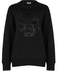 KENZO - Tiger-embellished Cotton Sweatshirt - Lyst