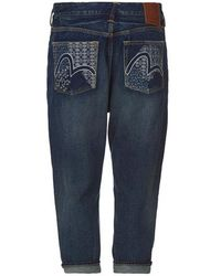 5392340bb262 Evisu - Denim Jeans With Outlined Seagull Embroidery - Lyst