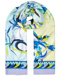 Emilio Pucci - Pareo Printed Cotton Scarf - Lyst