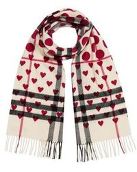 Burberry - Classic Heart Check Scarf - Lyst