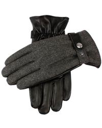 Dents - Guildford Flannel And Leather Gloves - Lyst