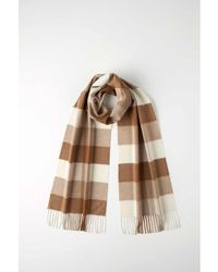 Johnstons - Block Check Cashmere Vicuña Scarf - Lyst