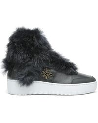 Mr & Mrs Italy - Studio Fur Trainer Knit Fur Leather - Lyst