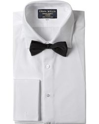 Emma Willis - White Cotton Pique Bib Evening Shirt - Lyst