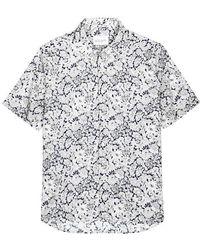 Albam - Morris Floral-print Poplin Shirt - Lyst