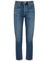 Citizens of Humanity - Liya Blue Cropped Slim-leg Jeans - Lyst