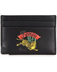 KENZO - Jumping Tiger Leather Card Holder - Lyst