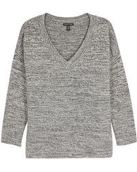 Eileen Fisher - Grey Mélange Knitted Jumper - Lyst