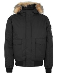 Pajar - Lucas Fur-trimmed Shell Bomber Jacket - Lyst